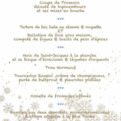 Menu St Sylvestre 31 décembre